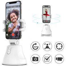 Акция на Смарт держатель смартфона Apai SMART 360° с датчиком отслеживания движения умный штатив для блогеров Белый от Allo UA