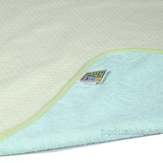 Акция на Двусторонняя непромокаемая пеленка Эко Пупс Jersey Classic зеленая 65х90 см от Podushka