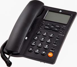 Акция на Проводной телефон 2E AP-410B Black (680051628707) от Rozetka