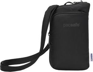 """Акция на Сумка через плечо PacSafe """"антивор"""" Daysafe Econyl Tech Crossbody 4 степени защиты 0.2 л Черная (40125138) от Rozetka"""