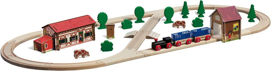 Акция на Игровой набор Eichhorn Железная дорога. Путешествие на ферму 41 элемент 360 см (100001268) от Rozetka