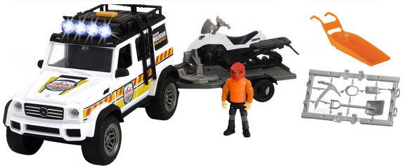 Акция на Игровой набор Dickie Toys Плейлайф Зимние спасатели с внедорожником и снегоходом (3837009) от Rozetka