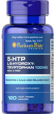 Акция на Аминокислота Puritan's Pride 5-HTP 100 mg (Griffonia Simplicifolia) 120 капсул (074312153174) от Rozetka