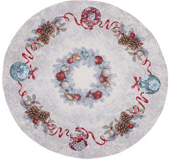 Акция на Скатерть Limaso новогодняя гобеленовая Морозко ROUND903-90D Ø90 см (ROZ6400052530) от Rozetka