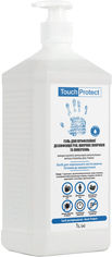 Акция на Антисептик гель для дезинфекции рук, тела и поверхностей Touch Protect 1 л (4823109400887) от Rozetka