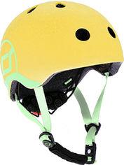 Акция на Защитный детский шлем Scoot and Ride с фонариком 45-51 см Лимон (XXS/XS) (SR-181206-LEMON) от Rozetka