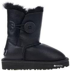 Угги UGG Baby Bailey Button Leather 114653 33 (21 см) Black от Rozetka