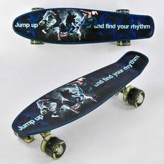 Акция на Скейт пенни борд Best Board Р 13780 X колёса PU светятся 22 дюйма с рисунком доска скейтборд (74497ОР) от Allo UA