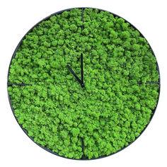 Акция на Настенные часы из мха SO Green Соу Грин металлические 50 см (00752) от Allo UA