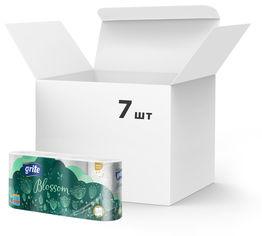 Акция на Упаковка туалетной бумаги Grite Blossom 150 отрывов 3 слоя 7 шт по 8 рулонов (4770023348682) от Rozetka