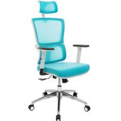 Акция на Офисное кресло GT Racer X-W50 White/Blue от Allo UA