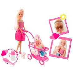 Акция на Набор с Асей и маленькой куклой 11 см Семейный досуг Блондинка с аксессуарами 28 см (35087) от Allo UA