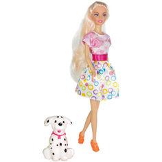 Акция на Кукла Ася Прогулка с собачкой Блондинка с аксессуарами (35058) от Allo UA