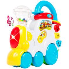 Акция на Музыкальная игрушка BeBeLino Поезд с Животными (58085) от Allo UA