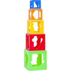 Акция на Игрушка BeBeLino Кубики-пирамидка (57028) от Allo UA