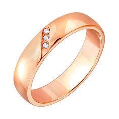 Акция на Обручальное кольцо из красного золота с фианитами 000010275 20 размера от Zlato