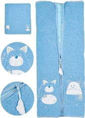Акция на Демисезонный конверт-одеяло ЛяЛя 14ВЛ003 (8-04) 68 см Голубой (ROZ6400012537) от Rozetka