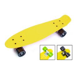 Акция на Penny Board. Желтый цвет. Матовые колеса от Allo UA