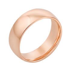 Акция на Золотое обручальное кольцо в красном цвете 000123479 22.5 размера от Zlato
