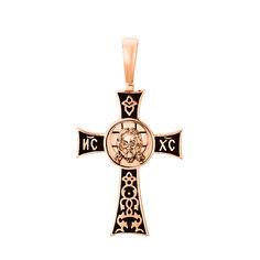 Акция на Крест из красного золота без распятия с чернением 000130799 от Zlato