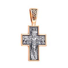 Акция на Православный серебряный крестик с позолотой и чернением 000125257 от Zlato