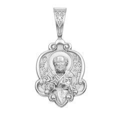 Акция на Серебряная ладанка Молитва Святому Николаю 000117910 от Zlato