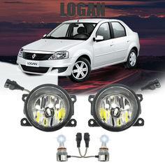 Акция на LED (лэд) противотуманки в бампер Рено, Дачия Логан. Противотуманные фары Dacia (Renault) Logan от Allo UA