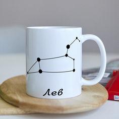 Акция на Оригинальная чашка для знака зодиака ЛЕВ на работу в офис коллеге подарок на день рождения (ART_104) от Allo UA