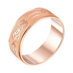 Акция на Обручальное кольцо из красного золота с алмазной гранью 000000334 20 размера от Zlato