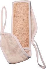 Акция на Мочалка банная массажная из люфы и хлопка в форме ремня Titania 70 х 11 см (7405) (4008576389488) от Rozetka