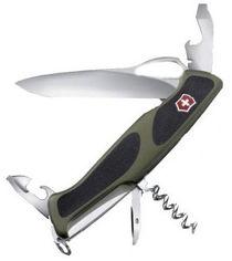 Акция на Victorinox RangerGrip 61 130мм/11предметов/зеленый-черный (0.9553.MC4) от Stylus