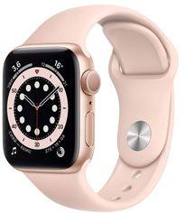 Акция на Apple Watch Series 6 44mm GPS+LTE Gold Aluminum Case with Pink Sand Sport Band (M07G3) от Stylus
