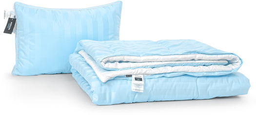 Акция на Набор антиаллергенный MirSon 3M Thinsulatе Деми Valentino Hand Made №2980 одеяло 140х205 + подушка 50x70 трехкамерная мягкая (2200002254885) от Rozetka