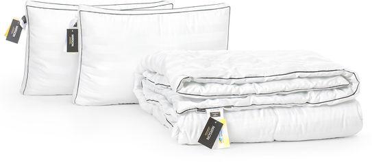 Акция на Набор антиаллергенный MirSon 3M Thinsulatе Деми Royal Pearl Hand Made №3085 одеяло 172х205 + 2 подушки 50x70 трехкамерные упругие (2200002256896) от Rozetka