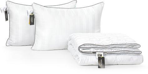 Акция на Набор антиаллергенный MirSon 3M Thinsulatе Лето Royal Pearl Hand Made №3076 одеяло 200х220 + 2 подушки 50x70 средние (2200002263665) от Rozetka