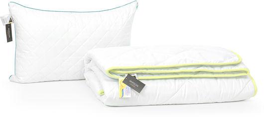 Акция на Набор антиаллергенный MirSon 3M Thinsulatе Eco Деми Aloe Vera №2934 одеяло 140х205 + подушка 50x70 средняя (2200002254717) от Rozetka