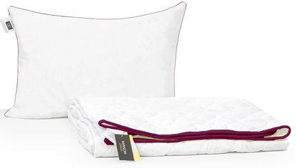 Акция на Набор антиаллергенный MirSon 3M Thinsulatе Лето Deluxe №3008 одеяло 140х205 + подушка 50x70 упругая (2200002261630) от Rozetka