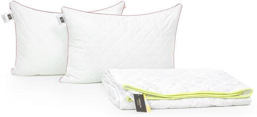 Акция на Набор антиаллергенный MirSon 3M Thinsulatе Eco Лето Jojoba №2933 одеяло 172х205 + 2 подушки 50x70 средние (2200002262583) от Rozetka