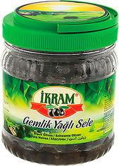 Акция на Оливки темные Ikram Premium с косточкой слабосоленые 700 г (8696591010508) от Rozetka