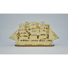 Акция на Деревянная салфетница HOT-KITCHEN Корабль от Allo UA