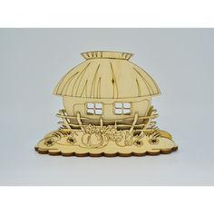 Акция на Деревянная салфетница HOT-KITCHEN Дом и клумба (сл3) от Allo UA