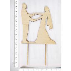 Акция на Топпер для цветов и торта HOT-KITCHEN упак-10шт Молодожены держащиеся за руки Деревянный 24,5*13,5 см (т11) от Allo UA