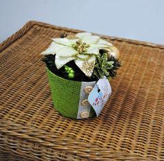 Акция на Кашпо с пуговками Лоза и Керамика 11-40410 зеленое от Podushka