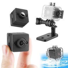 Акция на Водонепроницаемая камера - видеорегистратор SQ12, FullHD 1080P, 2 Мп, 80 минут записи от Allo UA