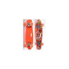 Акция на Детский Скейт (пенни борд) Penny board со светящимися колесами 55-14,5 см до 70 кг ОРАНЖЕВЫЙ арт. 0749-6 от Allo UA