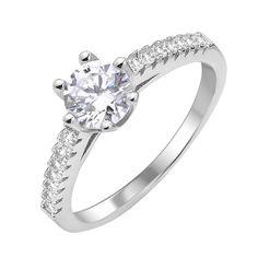 Акция на Серебряное кольцо с фианитами 000112669 17.5 размера от Zlato