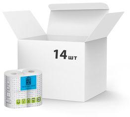Акция на Упаковка туалетной бумаги Прості речі 2 слоя 14 шт по 4 рулона (4820201210482) от Rozetka