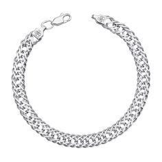 Акция на Cеребряный браслет в плетении ромб 000122252 22 размера от Zlato