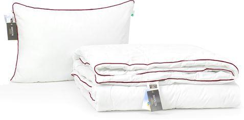 Акция на Набор антиаллергенный MirSon Eco-Soft Деми Deluxe Hand Made №2496 одеяло 172х205 см + 2 подушки 50х70 мягкие (2200002062886) от Rozetka
