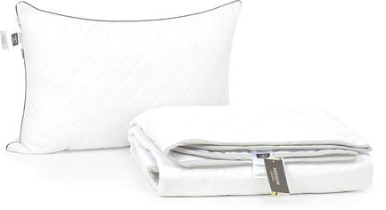 Акция на Набор антиаллергенный MirSon Eco-Soft Лето Royal Pearl №2544 одеяло 155х215 см + подушка 50х70 мягкая (2200002071512) от Rozetka